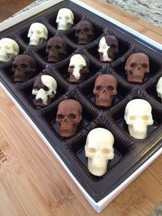 Chocolate Skulls by SweetSageEdibles on Etsy