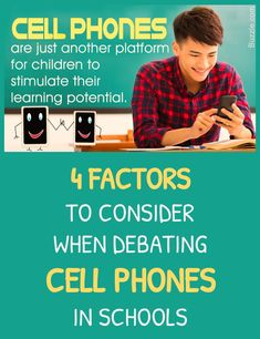 More than ever, cell phone technology shapes our relationships, habits, perspectives, and our learning. But do phones have a place in the classroom? Here are four factors to consider when forming your opinion about phones in the classroom. Cell Phones In School, Cult Of Pedagogy, Argumentative Writing, Cell Phone Deals, 8th Grade Science, Veggie Dogs, Cover Quotes, Best Homemade Dog Food, Healthy Dog Treats