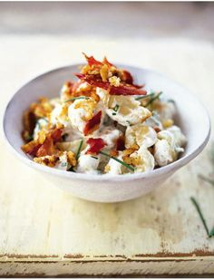 new potato salad with soured cream, chives & pancetta | Jamie Oliver | Food | Jamie Oliver (UK)