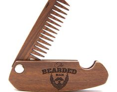 Wooden Folding Comb Grooming kit Beard care Beard by EnjoyTheWood