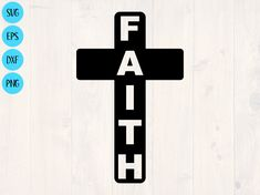 Faith vertical cross svg is a great Christian shirt design. by SullyWorksSVGandCut Cross Silhouette, Get A Life, Walk By Faith, Christian Shirts, Printable Wall Art, Shirt Designs, Love You, Crosses, Homecoming Mums