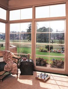 turn the screen porch into a 3 season porch.....
