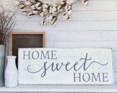Hogar dulce hogar  puerta signo signo cursivo signo exterior