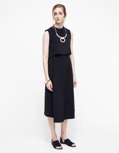 Stream Deep Pleated Midi Skirt