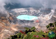 """As part of the Pacific """"Ring of Fire"""" Costa Rica is home to some of the world's most mesmerizing volcanoes and boasts an amazing 112 volcanic sites throughout the country. - Poas Volcano has one of the largest craters in the world!"""