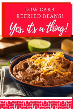 Frijoles Refritos Recipe, Bean Recipes, Low Carb Recipes, Sides With Tacos, Low Carb Beans, Cooking Dried Beans, Low Carb Tortillas, Refried Beans