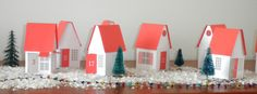 Christmas Advent Calendar Village scene. . . . by LittleBitsOnly