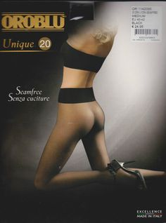 Oroblu Unique 20 pantyhose, Sheer to the waist, seamless, high waistband