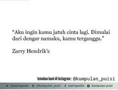 Puisi pendek. Kumpulan puisi. Zarry Hendrik.