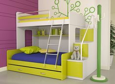Cute Yet Very Useful Space Saving Bedroom Furniture For Kids: Pretty Space Saving Bedroom Furniture For Kids With Two Beds Drawers And Cute Stair ~ Fmihc bedroom sets - kids bedroom furniture Safe Bunk Beds, Bunk Bed Sets, Metal Bunk Beds, Cool Bunk Beds, Bunk Beds With Stairs, Kids Bunk Beds, Childrens Bunk Beds, Space Saving Bedroom, Beds Uk