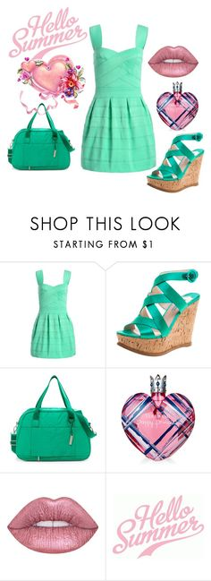"""HELLO SUMMER"" by diamond-mara ❤ liked on Polyvore featuring LeSportsac, Vera Wang and Lime Crime"