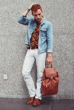 Fashion blogger Justin Livingston of Munrowe - Coach Backpack