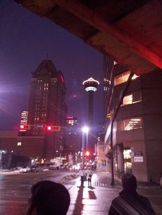 Day 12 - View of the Calgary Tower just as I leave work.