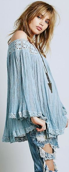Bohemian in Blue outfit. For more follow www.pinterest.com/ninayay and stay positively #pinspired #pinspire @ninayay