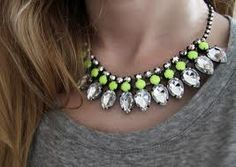 h statement necklace - Google-haku