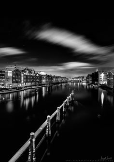 Trondheim in Black and White! - Fantastic image atmosphere from Trondheim's night I hope you like the composition. Please feel free to see more photos in my website: www.aziznasutiphotography.com