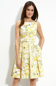 Muse belted stretch cotton dress