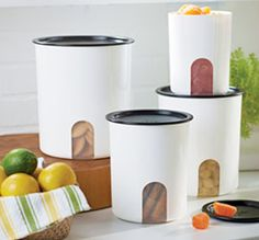 The #Tupperware One Touch Canister set is an air tight seal.  You can store anything in these canisters and are on sale through Jan. 31, 2014