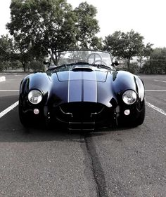Direct Express Auto Transport Here is how we became number 1. #LGMSports deliver it with http://LGMSports.com BLACK WITH SILVER STRIPES - A/C Cobra