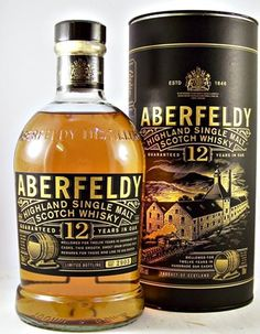 """Aberfeldy Scotch Whisky 12 year old 40% an out standing single malt whisky renowned for its heather honey softness and full body. www.LiquorList.com """"The Marketplace for Adults with Taste!"""" @LiquorListcom #LiquorList"""