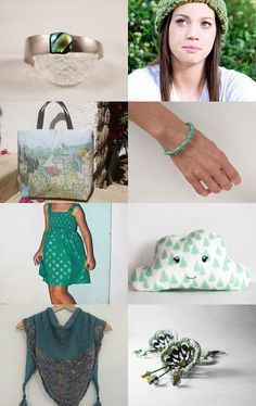 Green for Woman by carole on Etsy--Pinned with TreasuryPin.com