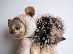 the talent is amazing. Woodland Creatures, Woodland Animals, Kawaii Plush, Teddy Bear, Toys, Hedgehog, Bears, Friends, Amazing