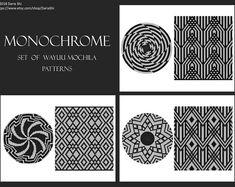 PATTERN: MONOCHROME- Set of wayuu mochila patterns - wayuu bag pattern- mochila bag pattern - tapestry crochet pattern - CHARTED pattern Diy Crochet Patterns, Tapestry Crochet Patterns, Beading Patterns Free, Crochet Designs, Crochet Ideas, Monochrome, Crochet Beret, Art Deco, Butterfly Pattern