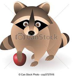 Clip Art Vector of racoon - raccoon csp3737916 - Search Clipart ...