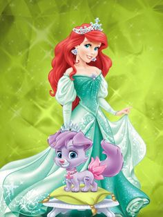This is princess Ariel with her puppy Matey.