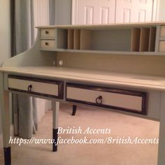 Hand painted writing desk https://www.facebook.com/8ritishAccents