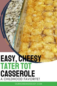 This childhood favorite is so easy you can make it on any weeknight. It's super yummy and kids and adults will enjoy it. Mix it up with some fun add-ins, and you've got a dish that's sure to become a family favorite. Healthy Breakfast On The Go, How To Make Breakfast, Healthy Breakfast Recipes, Cheesy Tater Tot Casserole, Cheesy Tater Tots, Healthy Casserole Recipes, Quiche Recipes, Amazing Recipes, Delicious Recipes