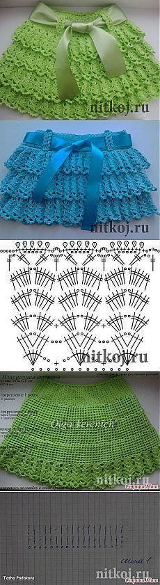 """falda de ganchillo hermosa """"hilo - artículos de punto para su hogar, crochet, tejido, crochet esquema"""