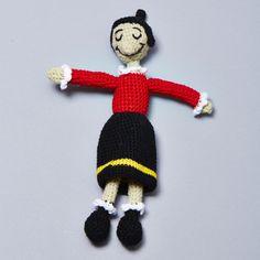 Crochet Pattern Popeye Doll : Braccio di ferro e Olivia on Pinterest Amigurumi ...