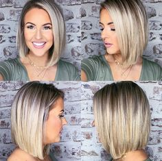 80 Bob Hairstyles To Give You All The Short Hair Inspiration - Hairstyles Trends Pretty Hairstyles, Bob Hairstyles, Hair Dos, My Hair, Medium Hair Styles, Short Hair Styles, Great Hair, Short Hair Cuts, Hair Trends