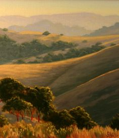 Northern California Landscape painting, original oil painting, Marin County artwork http://terrysauve.com