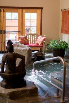 Thermal soaking tub at Shibui Spa in Sisters, Oregon