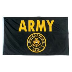 US Army Flag 3x5 NEW U S Military Gold w/ Crest