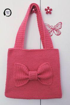 Crochet girls shoulder bag - Shoulder bag - Girls shoulder bag - Crochet bow - Crochet bag with bow - Tote bag - Girls birthday gift Birthday Gifts For Girls, Baby Girl Gifts, Baby Girls, Dreadlock Accessories, Boho Accessories, Crochet Bows, Crochet Girls, Gifts For Teens, Gifts For Her