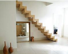 freestanding staircase possibility . . . but I think I'd want a railing. Maybe.