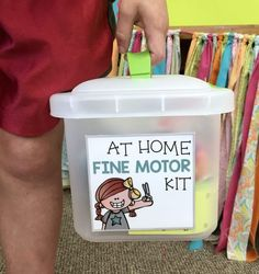 See how I supplement Fine Motor practice with this Fine Motor Home Kit.  Free printables available to get you started.