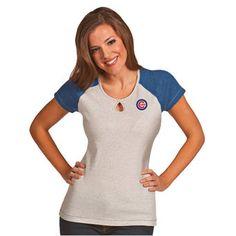 Chicago Cubs Antigua Women's Crush T-Shirt - Heather Royal