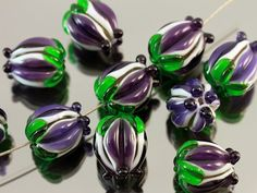Handmade Lampwork Beads  great violet by JewelryBeadsByKatie, $5.20