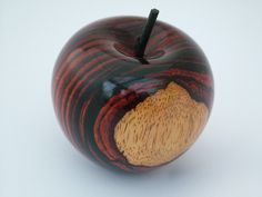 Apple in cocobolo by Gary Rance.
