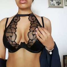 7e9d6626971 Lace cage bra with floral lace. Romantic Depot Manhattan