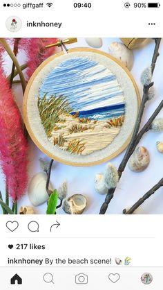 Beautiful beach embroidery