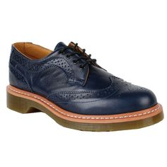 Dr. Martens Womens Shoes 1461 Wing Tip Blue Smooth Clearance    Color: Blue  Material: Smooth    * 4 Eyelet 1461 Shoe  * Smooth is the classic Dr. Martens leather; durable, with a smooth finish  * Made with Goodyear welt, the upper and sole are heat-sealed and sewn together