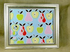Magnet Board Organizer  Pear & Apple Magnet Board  by CCNdesigns, $22.50