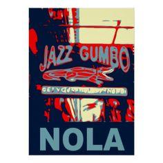 NOLA Jazz and Gumbo Poster