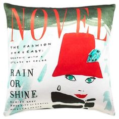 kate spade new york Rain or Shine Square Throw Pillow in Red/Multi - BedBathandBeyond.com