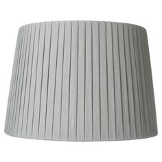 Pleated Linen Lampshade, 35cm - Grey Blue